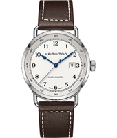H77715553 Khaki Navy Pioneer 43mm Swiss Automatic Gents Watch with Date