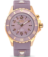 RG-009-40 Rosegold Series 40mm Medium paarse quartzduiker