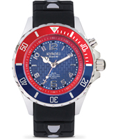 KY-007-40 Silver Series 40mm Medium quartzduiker met pepsi-bezel